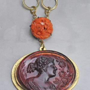 Victorian Cameo and Coral Necklace
