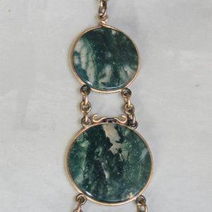 Moss Agate Victorian Fob Necklace